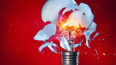 free photo: broken lightbulb
